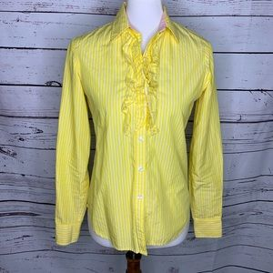Lilly Pulitzer striped ruffled blouse